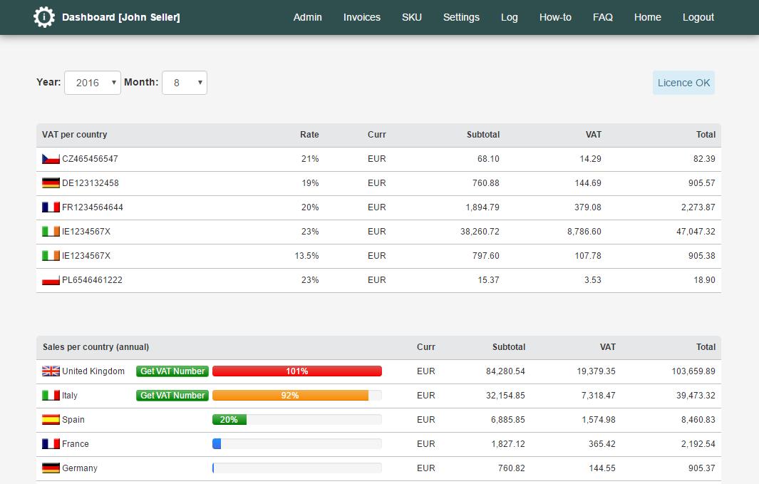 Amzito Invoices For Amazon Dashboardinvoicemachineforamazon - Invoice machine